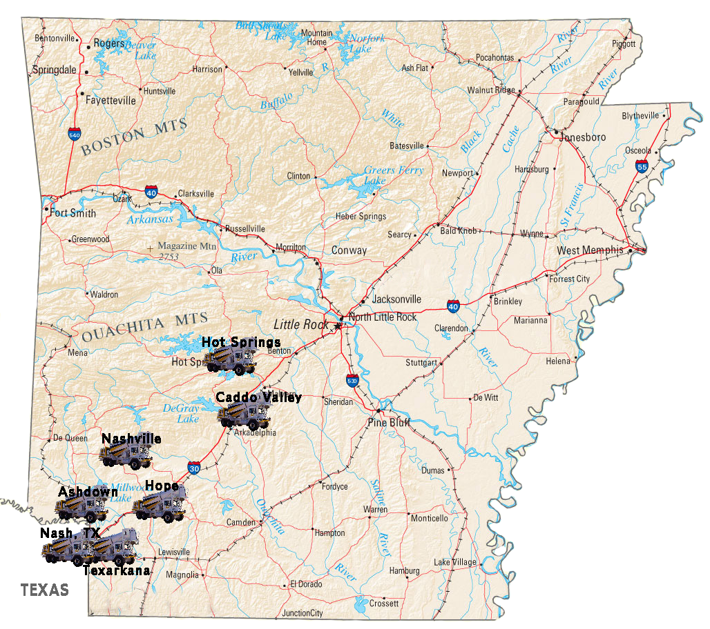 Arkansas SRM Locations Map